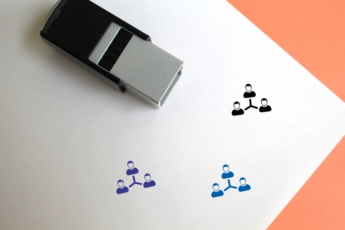 Users Self-Inking Rubber Stamp