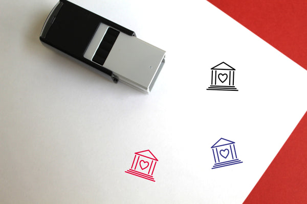 Heart Bank Self-Inking Rubber Stamp
