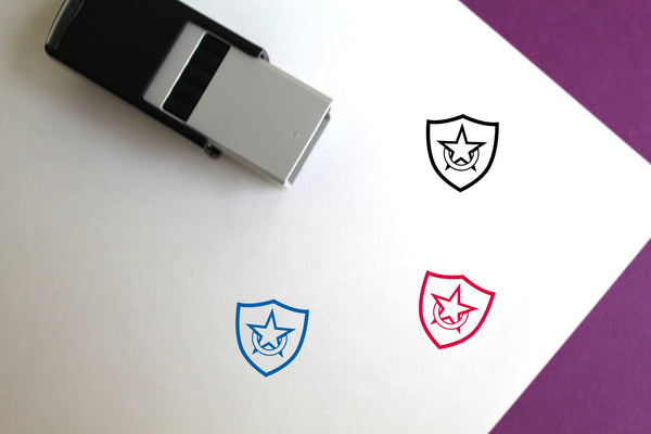 Shield Self-Inking Rubber Stamp