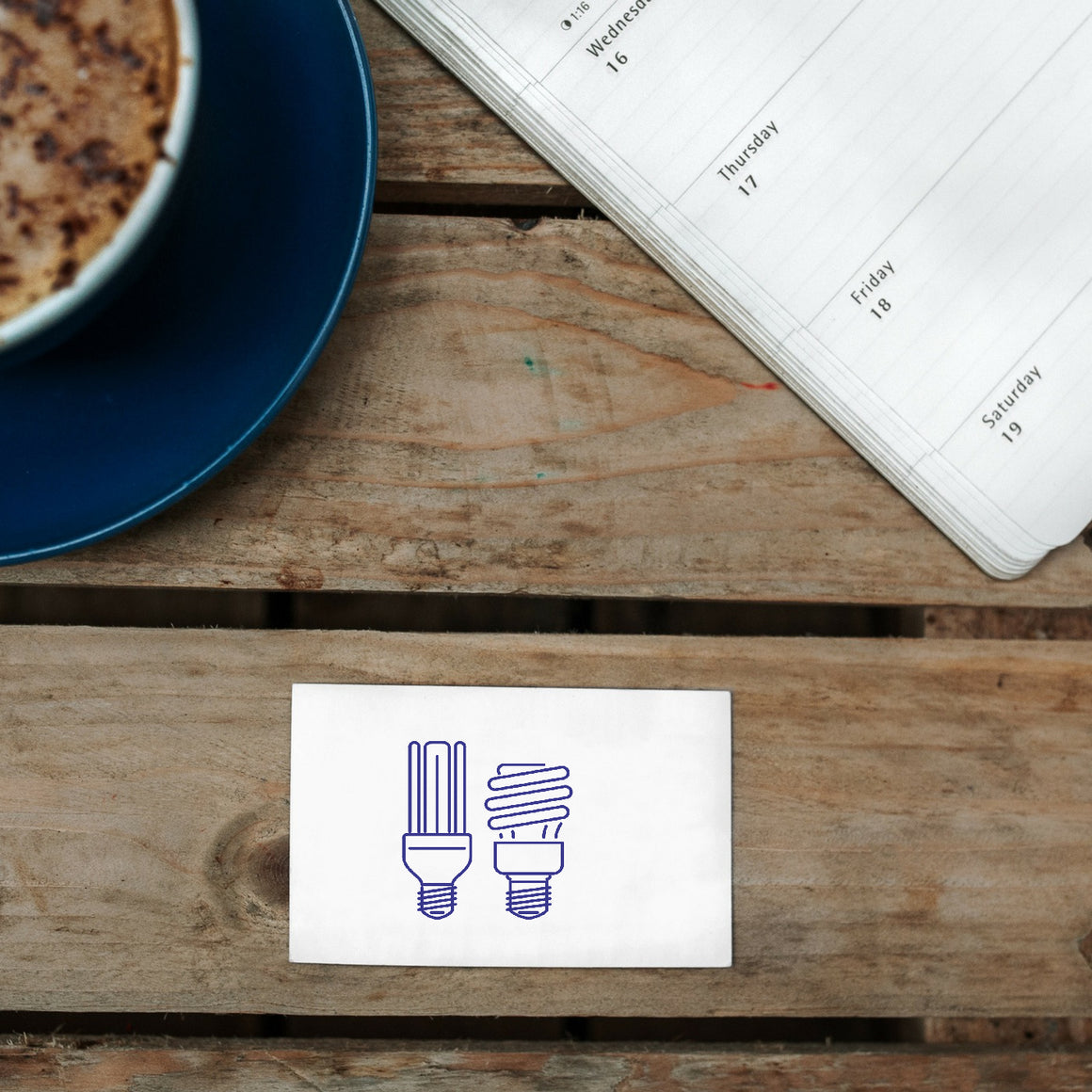 Energy Savingy Rubber Stamp