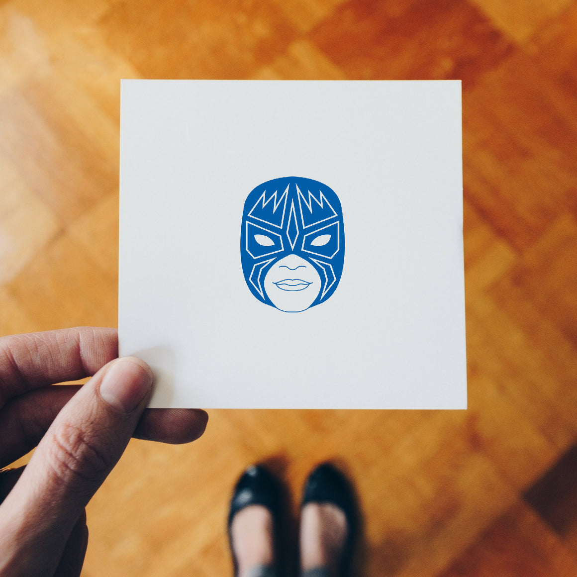 Wrestling Mask Rubber Stamp