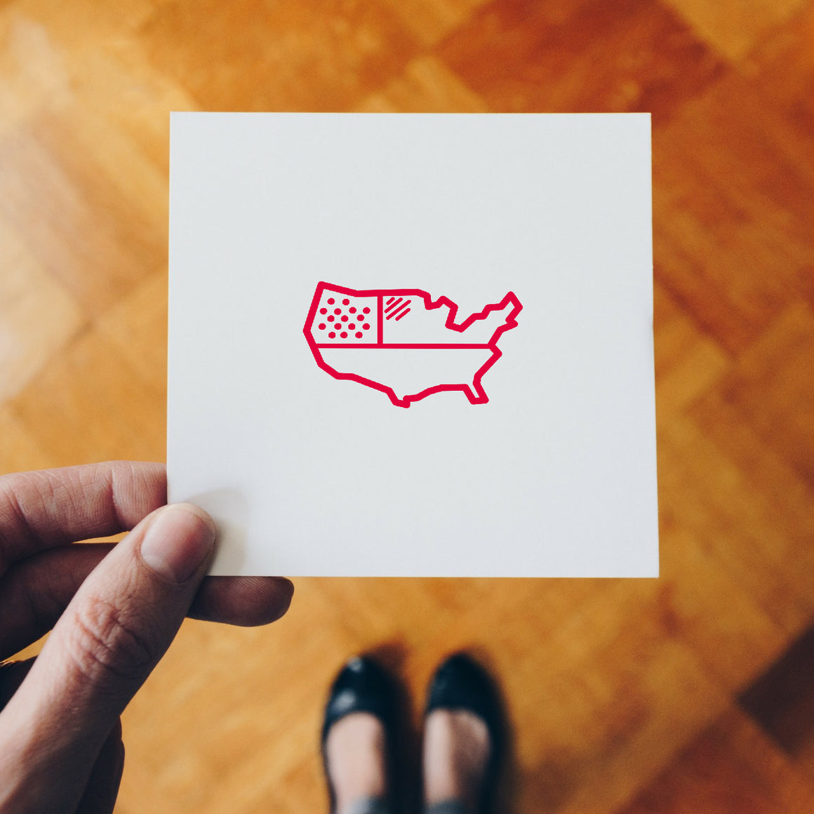 United States Map Rubber Stamp