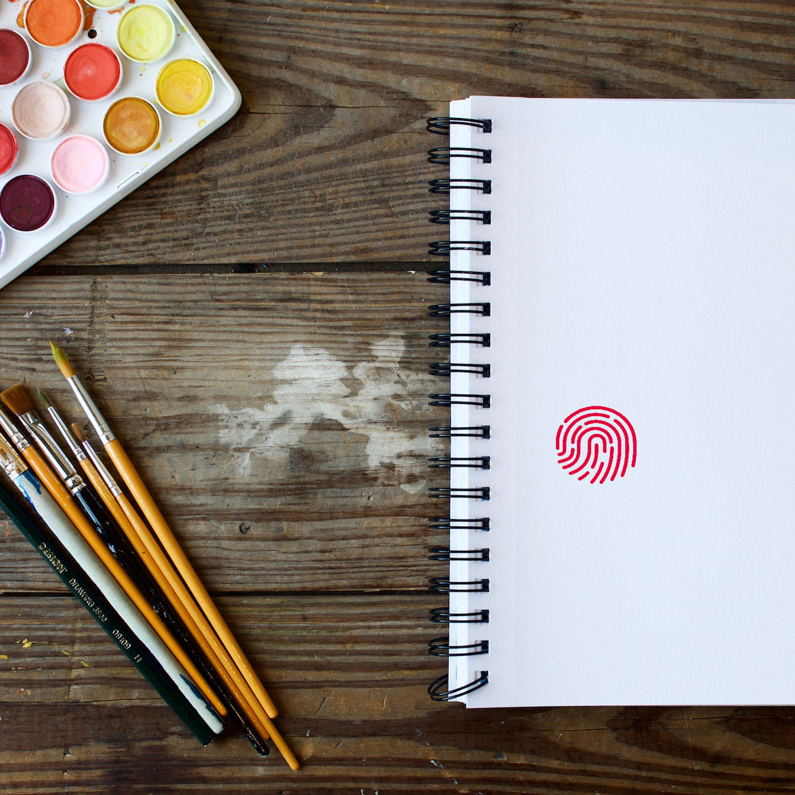 Fingerprint Rubber Stamp
