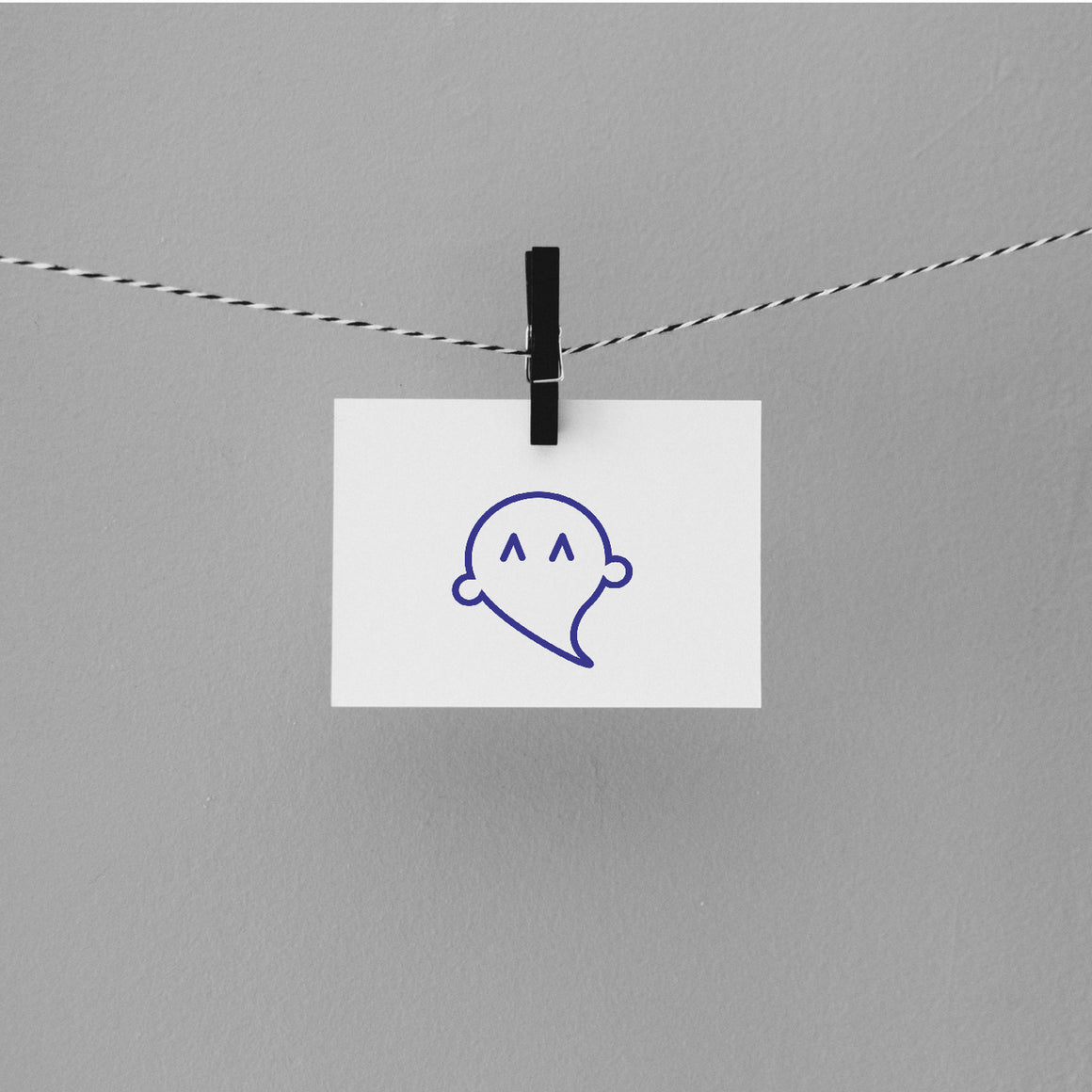 Happy Ghost Rubber Stamp