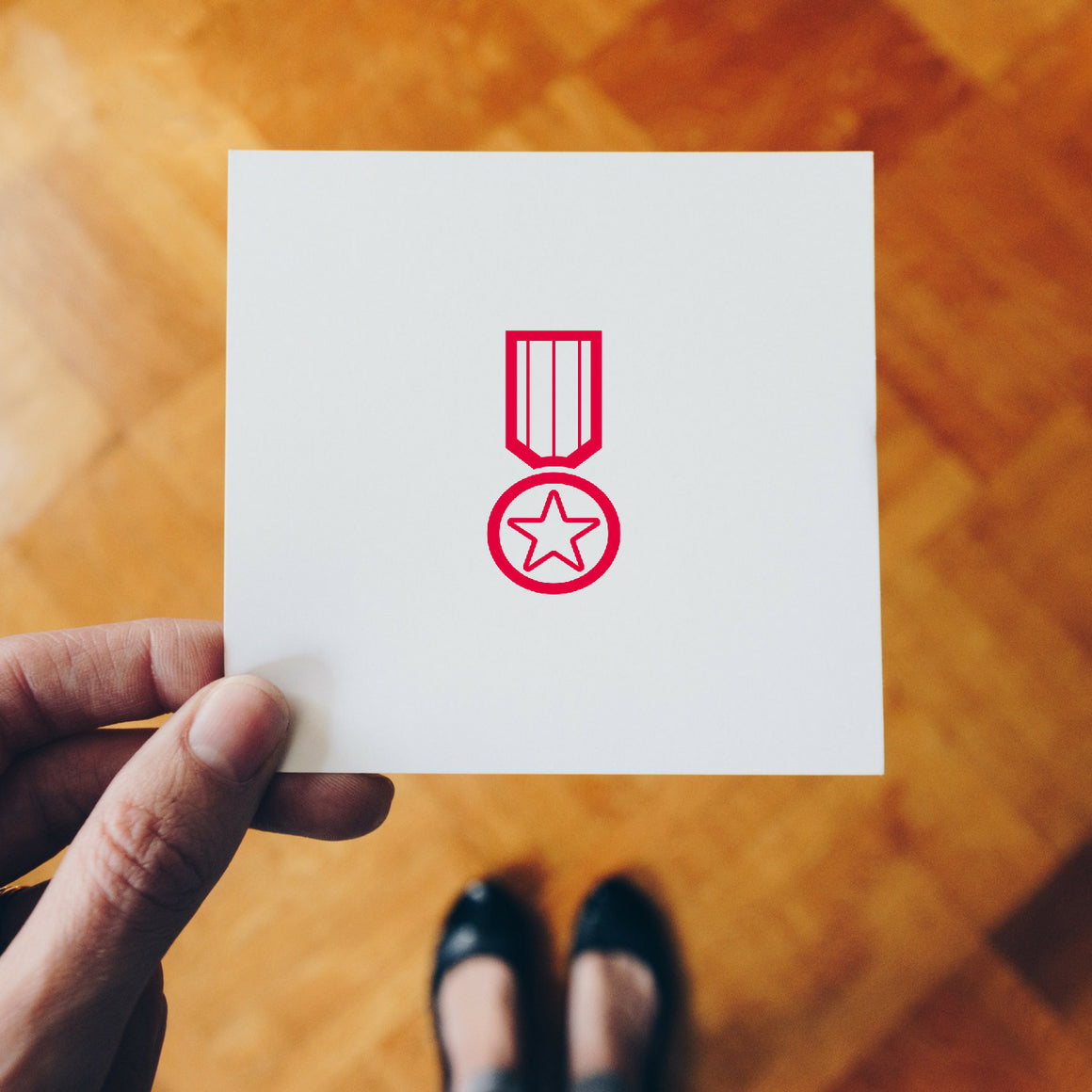 Medal Rubber Stamp