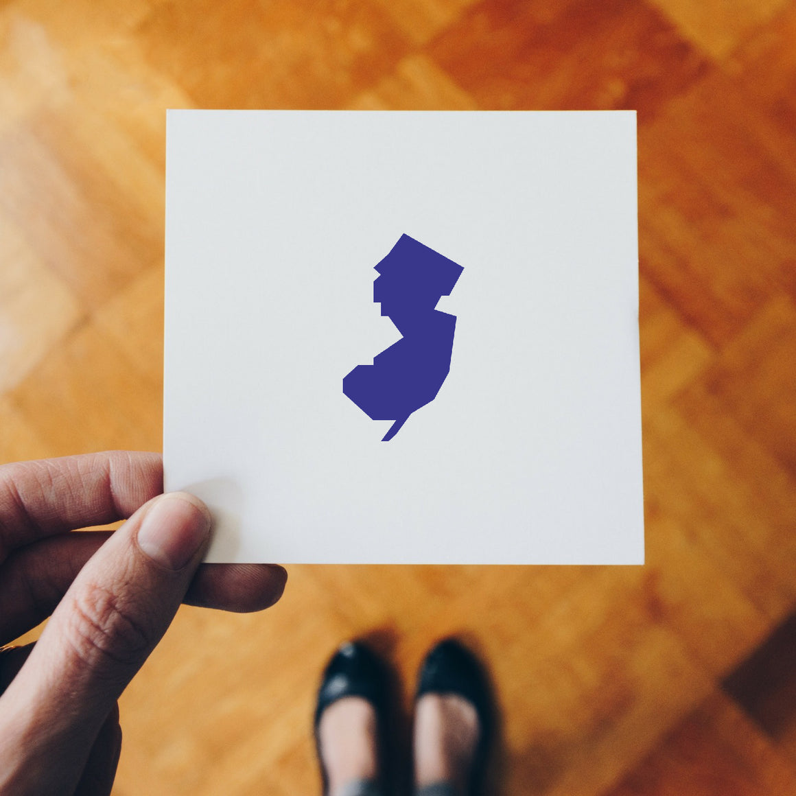 New Jersey Map Rubber Stamp