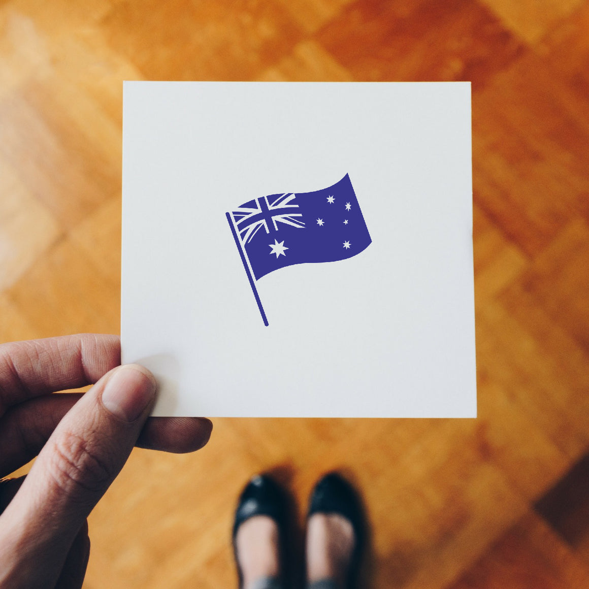 Flag Of Australia Rubber Stamp