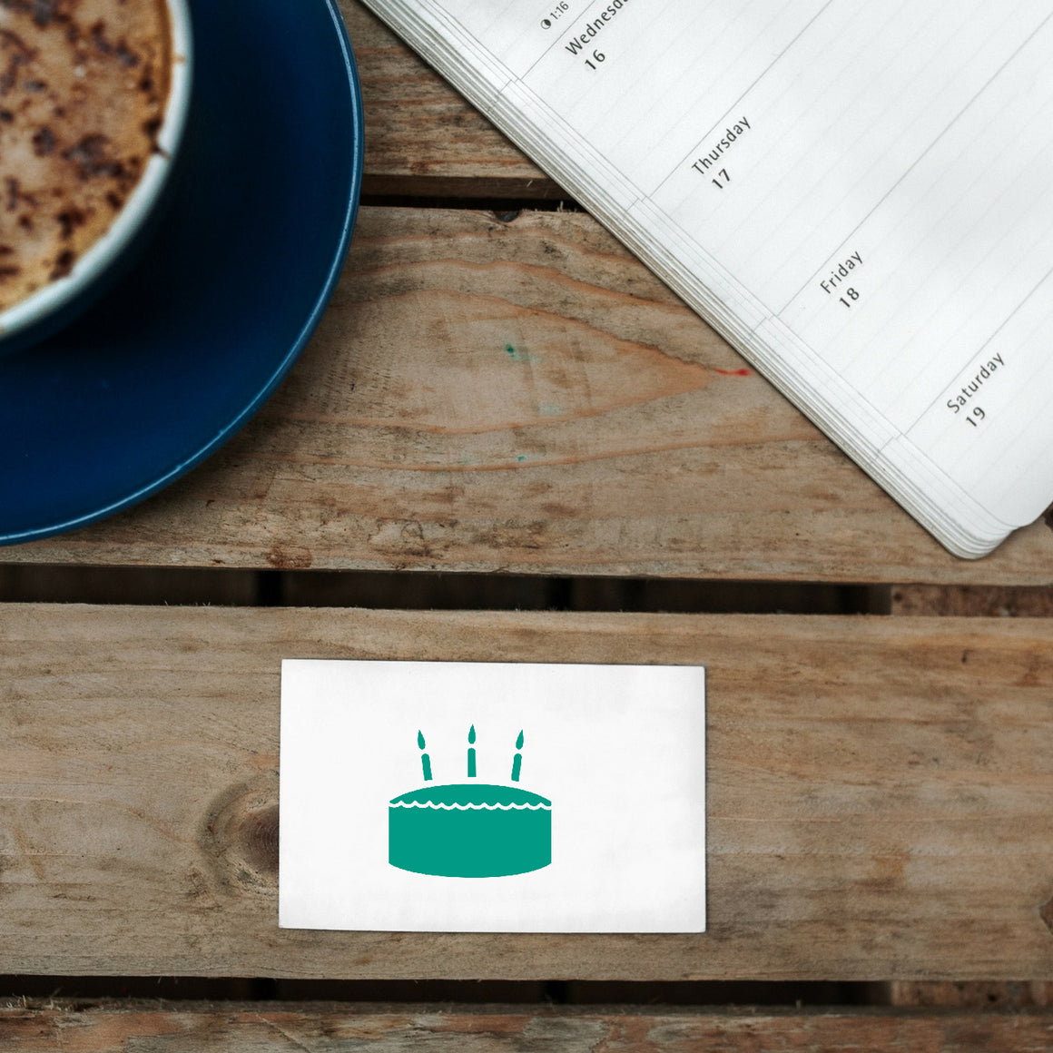 Birthday Rubber Stamp