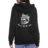 Sweat à capuche KING QUEEN skull