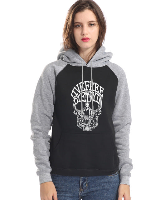 Sweat à capuche skull