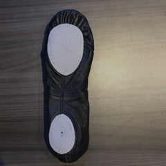 Leather Ballet Slipper Split Sole