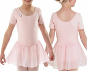 Youth Short Sleeve Skirted Leotard