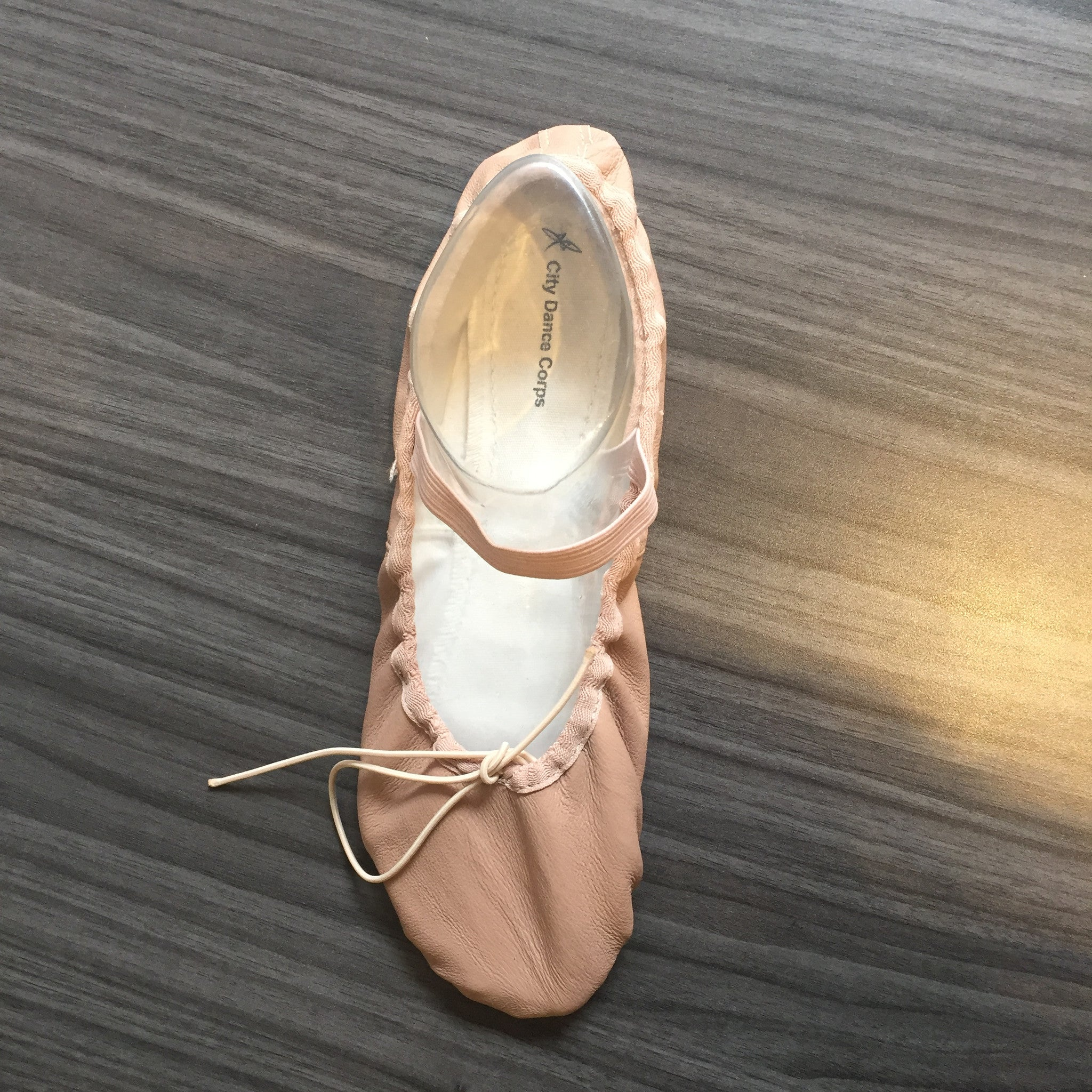 Youth Leather Ballet Slipper Full Sole
