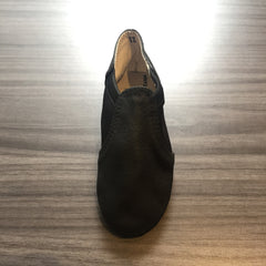 Youth Black Leather Jazz Slippers