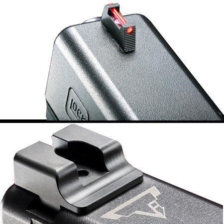 TTI Ultimate Fiber Optic Sight Set for Glock Pistols