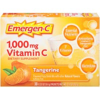 Emergen-C 1000 mg Vitamin C Fizzy Drink Mix (30 Sachets) - Super Orange - Strawberry or Tangerine