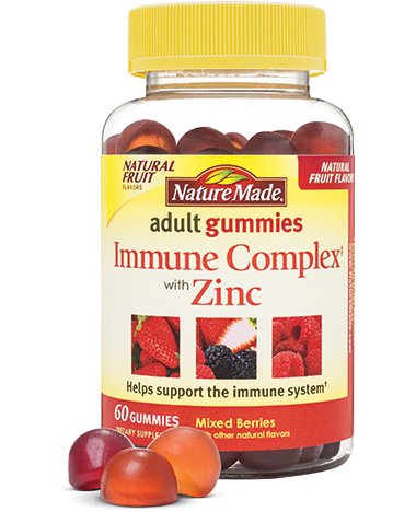 Nature Made Adult Immune Complex with Zinc Gummies (60ct)