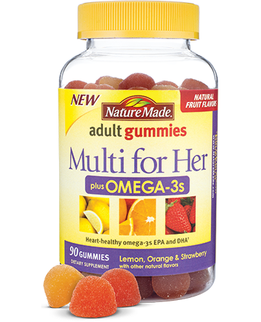 Nature Made Adult Multi for Her+Omega 3s Gummies (150 Ct)
