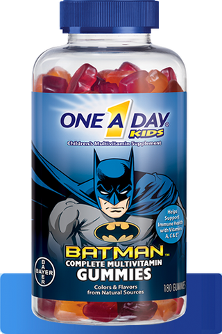 "One A Day Kid's ""Batman"" Complete Multivitamin Gummies (180ct)"