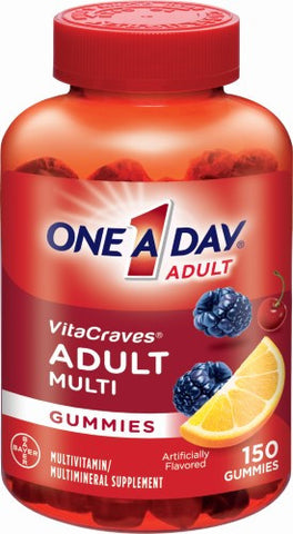 One A Day Adult Vitacraves Gummies Multivitamin (150 Ct)