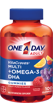 One A Day Adult Vitacraves Multi+Omega 3 DHA Gummies (100 Ct)