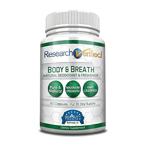 Body & Breath Natural Deodorant & Freshener Capsules (60 Ct)