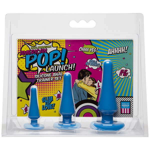 American Pop! Launch! Anal Trainer Set - Blue