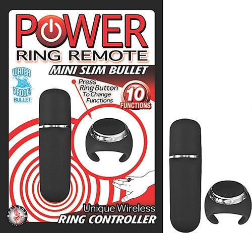 Power Ring Remote Mini Slim Bullet - Black NW2372-1