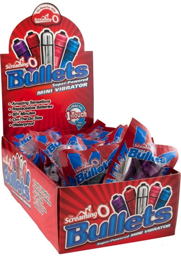 Screaming O Bullets - 20 Piece Pop Box Display - Assorted Colors BUL20-110D