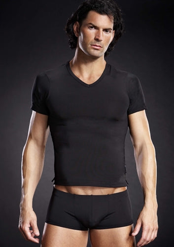 Performance Microfiber v-Neck Tee - Black - Small-Medium BLM007-BLKSM