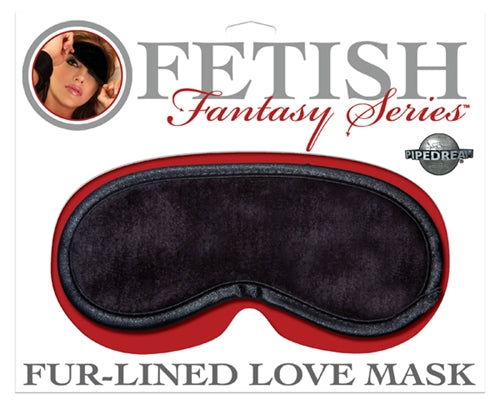 Fur-Lined Love Mask - Black PD3906-23