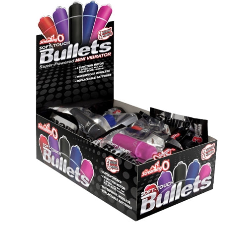 Soft Touch 3 + 1 Bullets - 20 Count Pop Box Display - Assorted Colors BUL4-110D