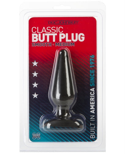 Classic Butt Plug - Smooth - Medium - Black DJ0244-05