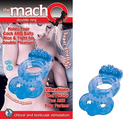 The Macho Double Ring Blue NW2145-1