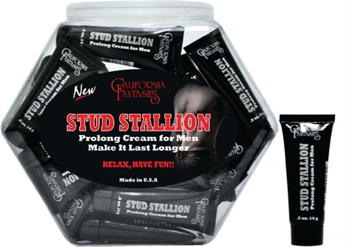 Stud Stallion - Prolong Cream for Men - 36 Piece Fishbowl - 0.5 Oz. Tubes CF-STU-10D