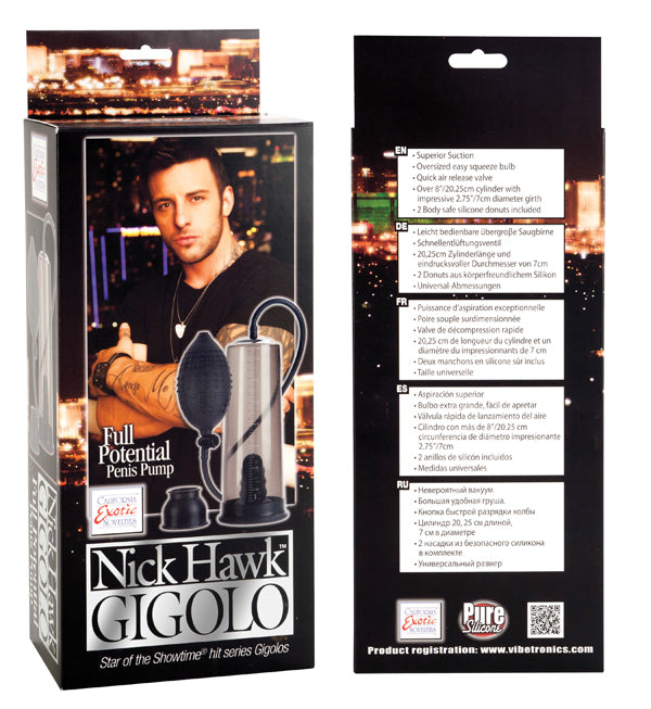 Nick Hawk Gigolo Full Potential Penis Pump SE2958003
