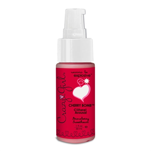 Crazy Girl Cherry Bomb Clitoral Arousal - Strawberry Sweetheart - 1 Oz. CE7703-01