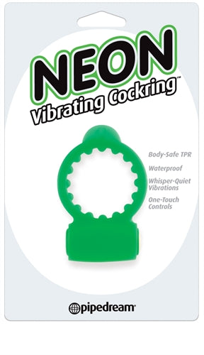 Neon Vibrating Cockring - Green PD2366-16