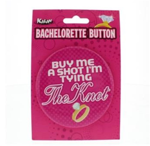 Bachelorette Button - 3 Inch - Buy Me a Shot i'm Tying the Knot K-BT3R294