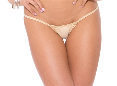 Low Back Tee Thong - Nude - One Size BS100NNDE