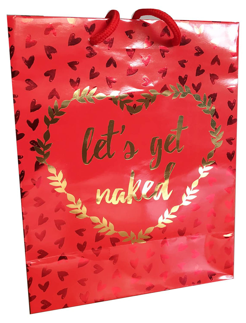 Let's Get Naked - Gold Foil Gift Bag K-GBF520