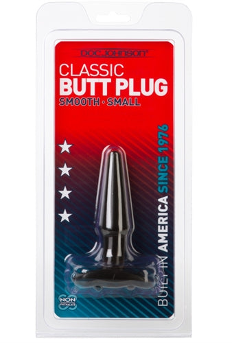 Classic Butt Plug - Smooth - Small - Black DJ0244-04
