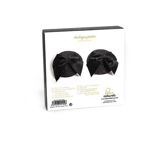 Bijoux Burlesque Pasties Bow-Black
