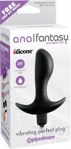 Anal Fantasy Collection Vibrating Perfect Plug - Black PD4608-23