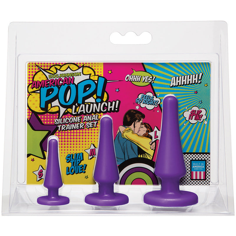 American Pop! Launch Silicone Anal Trainer Set-Purple