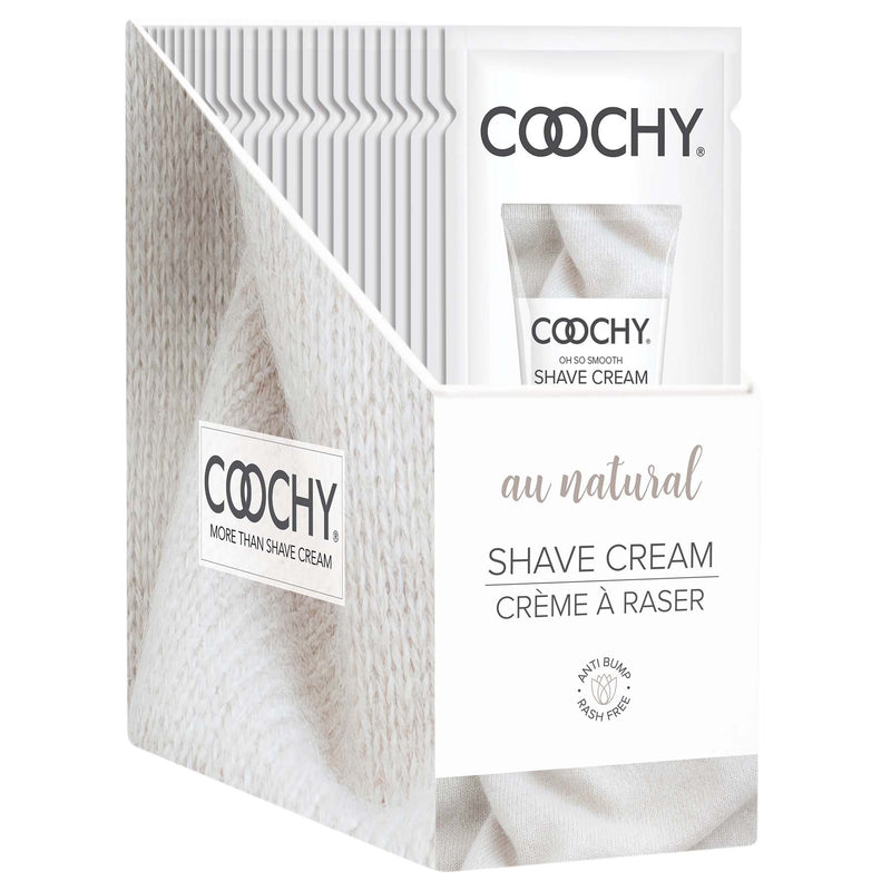 Coochy Shave Cream - Au Natural - 15 ml Foils 24 Count Display COO1001-99D