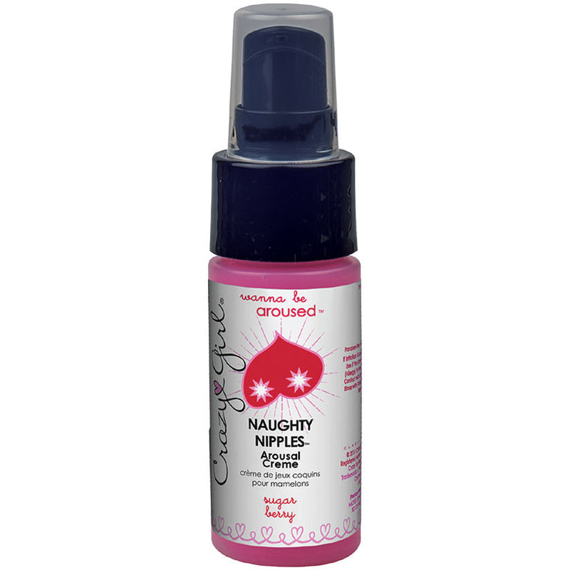 Crazy Girl Naughty Nipples Arousal Crème-Sugar Berry 1oz
