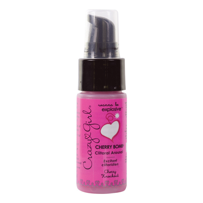 Crazy Girl Cherry Bomb Clit Arousal-Cherry Knockout 1oz
