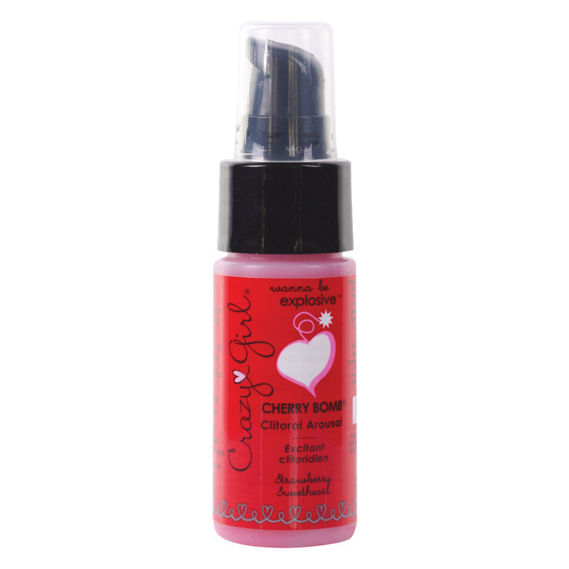 Crazy Girl Cherry Bomb Clit Gel-Strawberry Sweetheart 1oz
