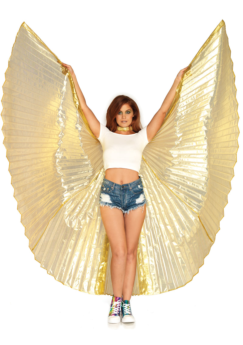 360 Degree Pleated Isis Wings - One Size LA-A2790GOLD